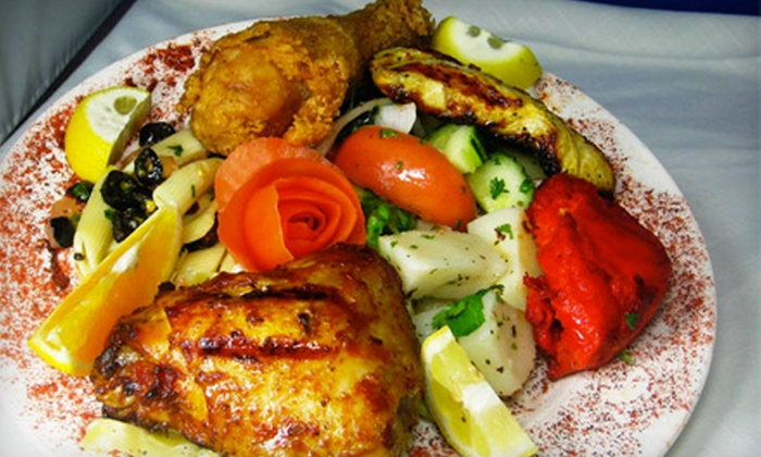 Dimassi's Mediterranean Buffet - Multiple Locations: All-You-Can-Eat Buffet Meal for Two or $50 for $100 Worth of Catering at Dimassi's Mediterranean Buffet (Half Off)