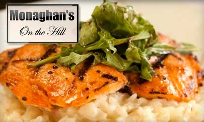 Monaghan's On The Hill - Piedmont Pines: $25 for $50 Worth of Californian Cuisine and Drinks at Monaghan's On the Hill in Oakland Hills