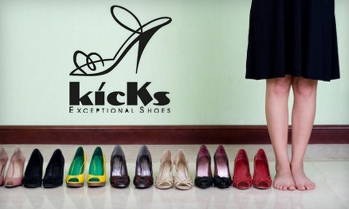 Kicks Exceptional Shoes - Multiple Locations: $30 for $75 Worth of Designer Shoes, Accessories, and More at Kicks Exceptional Shoes