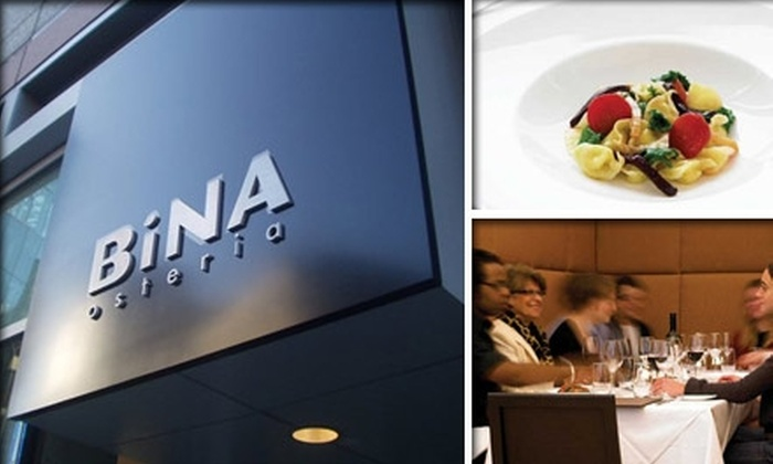 Bina Osteria - Chinatown / Leather District: $25 for $50 Worth of Meals and Drinks at Bina Osteria