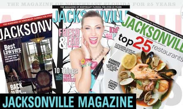 """Jacksonville"" Magazine - Jacksonville: $9 for a One-Year Subscription to ""Jacksonville"" Magazine ($18.95 Value)"