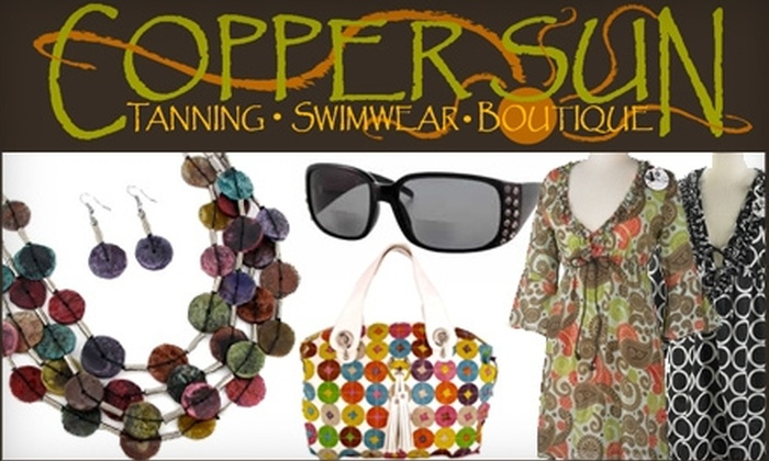 Copper Sun Boutique - North East Citizens Action: $10 for $25 Worth of Swimwear and Accessories, Plus 20% Off Tanning Services, at Copper Sun Boutique