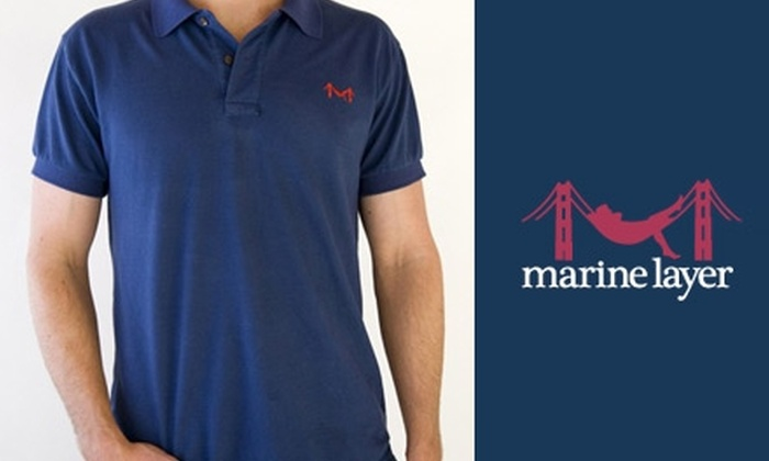 Marine Layer - Boston: $30 for a Classy Polo from Marine Layer ($60 Value)