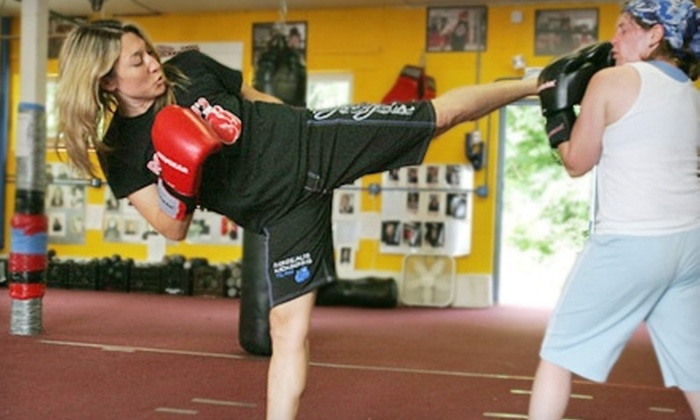 Rondeau's Kickboxing - Multiple Locations: Women's Fitness Classes or Personal-Training Sessions at Rondeau's Kickboxing