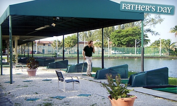 Aqua Golf Driving Range - Pembroke Park: Golf-Ball Baskets or 30-Minute Private Golf Lesson at Aqua Golf Driving Range in Pembroke Park