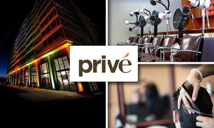 Prive Salon and Spa - Locust Point: $20 for $40 Toward a Men's Haircut at Privé Salon & Spa
