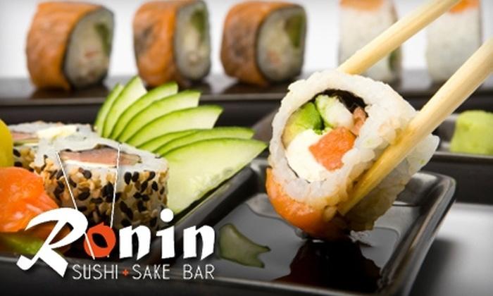Ronin Sushi + Sake Bar - Hodgmans Daytona: $10 for $20 Worth of Sushi and Japanese Fare at Ronin Sushi + Sake Bar