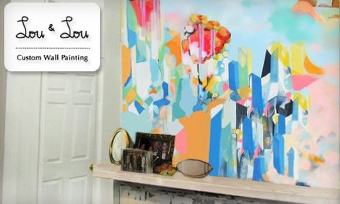 Lou & Lou - New Orleans: $45 for 3' x 5' Custom Wall Painting ($150 Value)