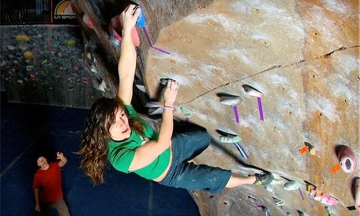 The Spot Bouldering Gym - Transit Village: $7 for Day Pass and Shoe Rental at The Spot Bouldering Gym (Up to $15 Value) in Boulder