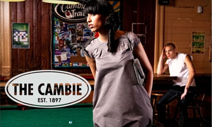 The Cambie Pub - Downtown Vancouver: $7 for $15 Worth of Pub Fare and Drinks at The Cambie Pub