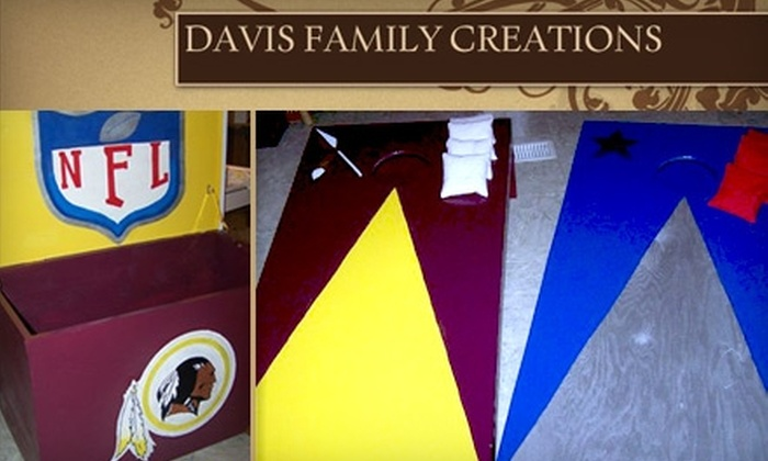 Davis Family Creations - 2, Prince Frederick: $60 for $125 Worth of Handmade Cornhole Sets and Pong Tables from Davis Family Creations