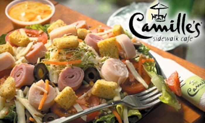 Camille's Sidewalk Café - Tulsa: $8 for $16 Worth of Wraps, Smoothies, and More at Camille's Sidewalk Café