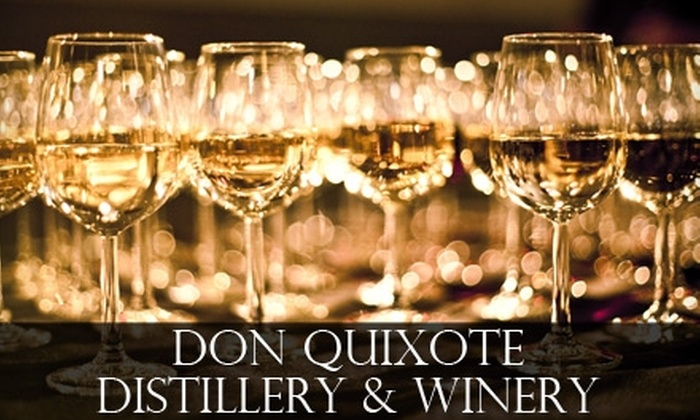 Don Quixote Distillery & Winery - White Rock: $25 for a Three-Hour Wine Class, Tasting, and Tour at Don Quixote Distillery & Winery ($50 Value)
