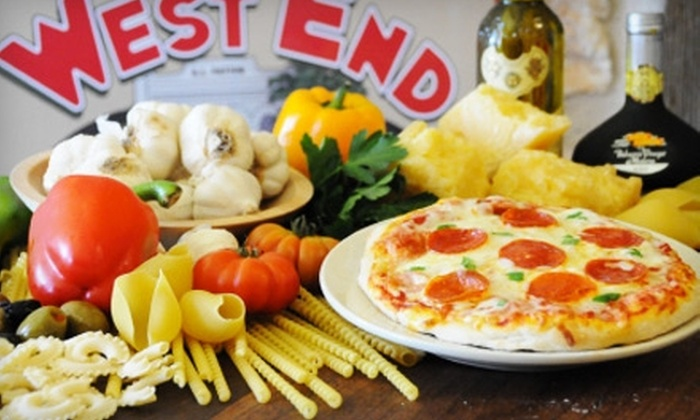 West End Pizza Company - Fredericksburg: $10 for $20 Worth of Pizza and Pasta at West End Pizza Company in Fredericksburg
