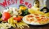 West End Pizza Company - Fredericksburg: $10 for $20 Worth of Pizza and Pasta at West End Pizza Company in Fredericksburg