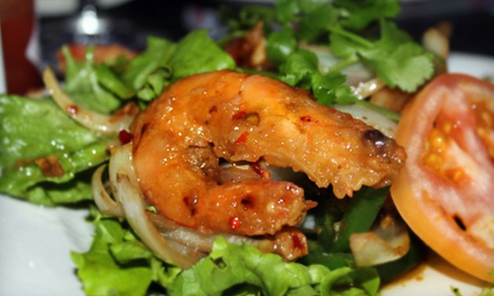 Q's Lounge Café and Restaurant - Westminster: Crawfish Dinner for Two or Four at Q's Lounge Café and Restaurant in Westminster. (Up to a $121 Value)