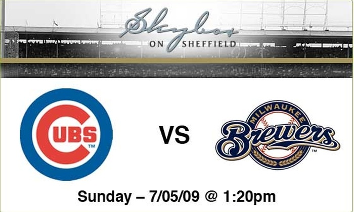 Sky Box on Sheffield - Lakeview: $89 to see Cubs vs Brewers, July 5, at 1:20 p.m.