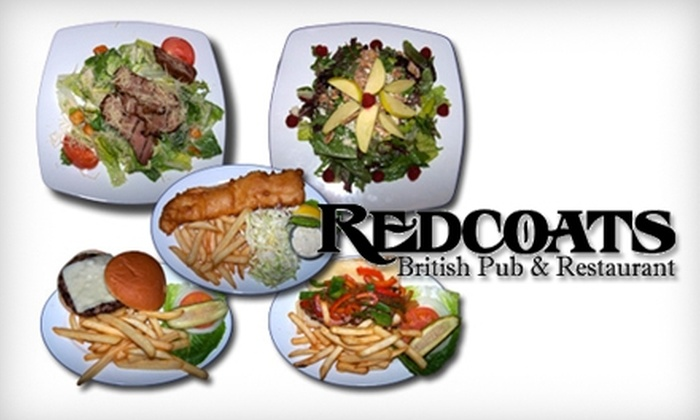 Redcoats British Pub & Restaurant - San Francisco: $15 for $30 Worth of Drinks and Fare at Redcoats British Pub & Restaurant in Pleasanton
