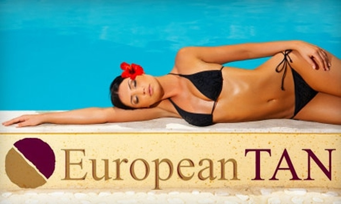 European Tan - Multiple Locations: $29 for Two Weeks of Unlimited VIP Tanning and One Spray Tan at European Tan ($70 Value)