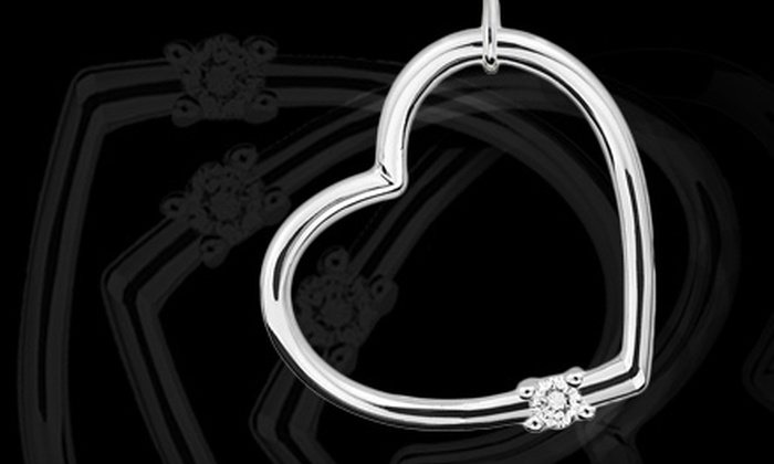 Valentine's Day Diamond Heart Pendant: $149 for a Mazal Solitaire Diamond Heart Pendant in 14-Karat White Gold ($349 Value)