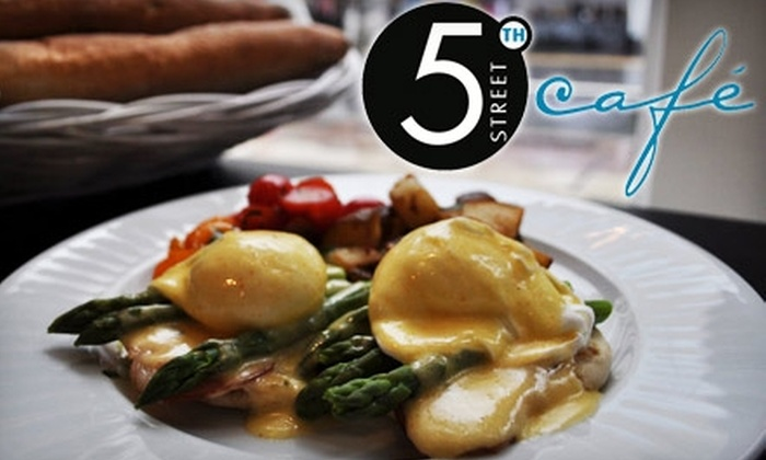 5th Street Cafe - Midtown: $20 for $40 Worth of Contemporary European Bistro Dinner Fare at 5th Street Café (or $10 for $20 Worth of Brunch or Lunch)