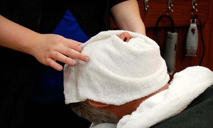 Roosters Men's Grooming Center - Simsbury Center: $20 for Haircut and Seven-Step Facial Shave at Roosters Men's Grooming Center in Simsbury ($40 Value)