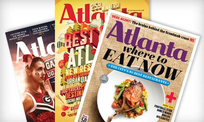 """Atlanta"" Magazine - Multiple Locations: $6 for a One-Year Subscription to ""Atlanta"" Magazine ($12 Value)"