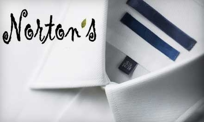 Norton's Green Cleaners - Multiple Locations: $20 for $45 Worth of Eco-Friendly Dry Cleaning at Norton's Green Cleaners