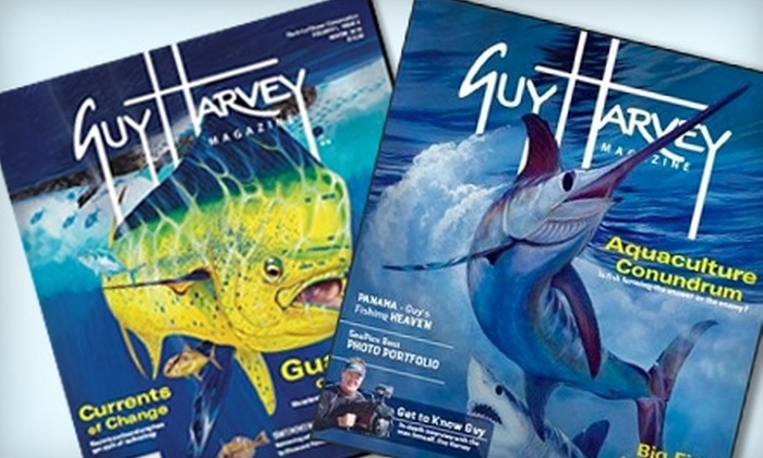 "<i>Guy Harvey Magazine</i>: $10 for One-Year Subscription to ""Guy Harvey Magazine"" ($24.95 Value)"