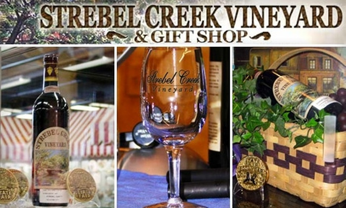 Strebel Creek Vineyard - Northwest Oklahoma City: $16 for Wine Tasting for Two, Bottle of Wine of Your Choice, and Two Wine Glasses at Strebel Creek Vineyard (Up to $33.99 Value)