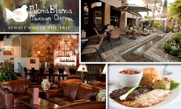 Paloma Blanca Mexican Cuisine - Alamo Heights: $12 for $25 Worth of Authentic Mexican Fare at Paloma Blanca Mexican Cuisine