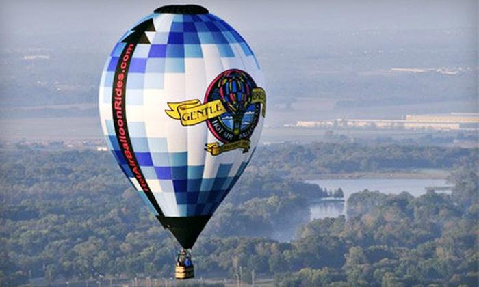 Gentle Breeze Hot Air Balloon Co. - Gentle Breeze Hot Air Balloon Co.: $125 for a Hot Air Balloon Ride from Gentle Breeze Hot Air Balloon Co. in Lebanon (Up to $249.99 Value)