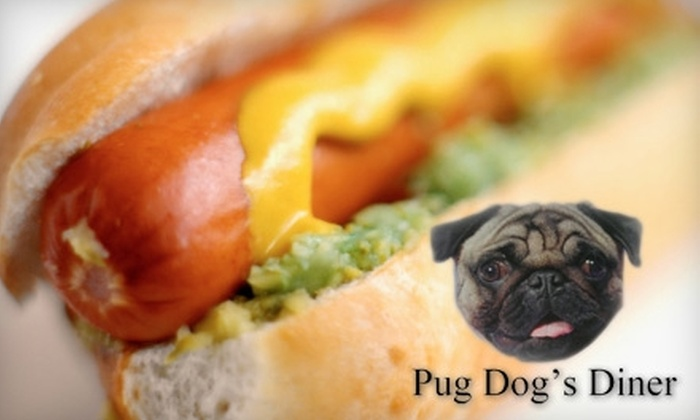 Pug Dog's Diner - Machesney Park: $5 for $10 Worth of Hot Dogs and More at Pug Dog's Diner