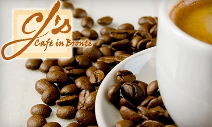 CJ's Café in Bronte - Oakville: $5 for $10 Worth of Café Fare and Drinks at CJ's Café in Bronte, Located in Oakville