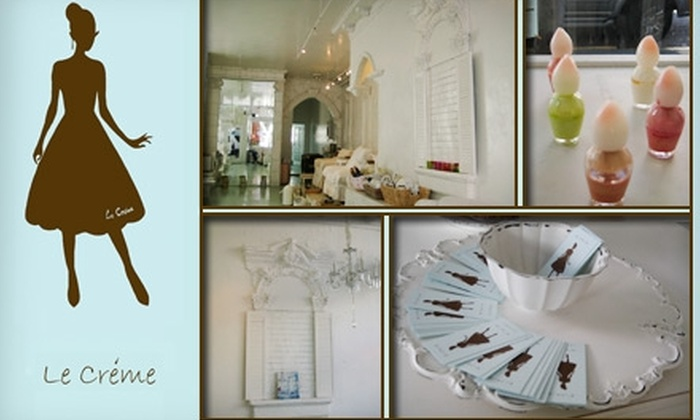 Le Crème - Lower Pacific Heights: $25 for $50 Worth of Nail Services, Hair Removal, and More at Le Crème Nail Spa