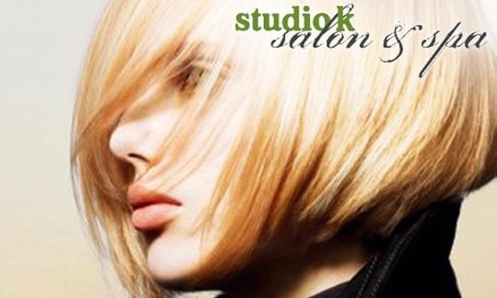 Studio K Salon & Spa - McLaughlin: Hair, Nail, and Waxing Services at Studio K Salon & Spa. Choose from Three Options.
