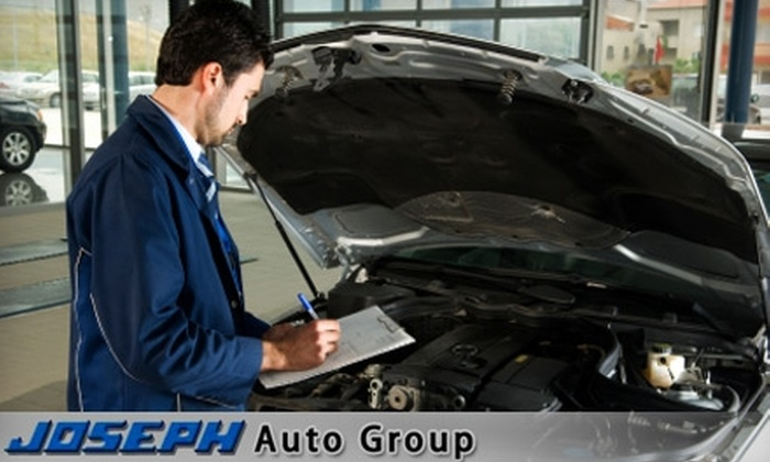 Joseph Auto Group - Multiple Locations: $25 for a Standard Oil Change, Tire Rotation, Multi-point Inspection, and Car Wash at Joseph Auto Group ($59 Value). Choose From 12 Locations.