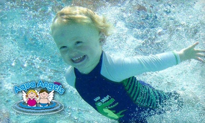 Aqua Angels - Grand Prairie: $50 for a Six-Week Baby and Preschool Swimming Class Plus Underwater Photo at Aqua Angels in Grand Prairie