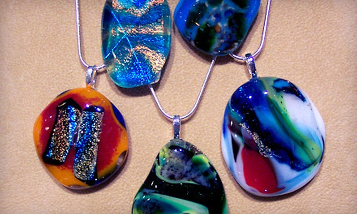 The Glass Workbench - Saint Charles: Glass-Fusing Workshop for One or Two with Take-Home Pendant at The Glass Workbench in Saint Charles (Up to 56% Off)