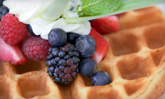 Waffles Cafe - Rhodes Ranch: $10 for Specialty Waffles and Drinks for Two at Waffles Cafe (Up to $22.10 Value)