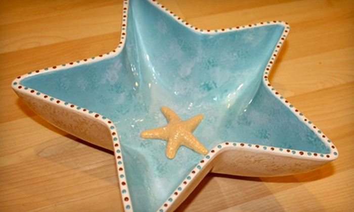A Maze in Pottery - West Harrison: $22 for Pottery Painting for Two at A Maze in Pottery in Briarcliff Manor (Up to $47.25 Value)