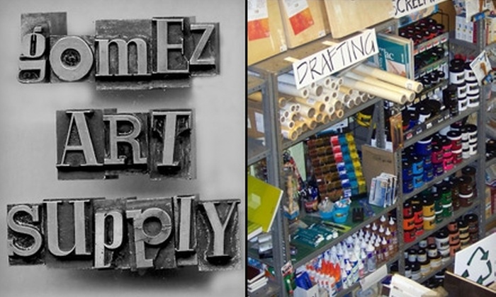 Gomez Art Supply - Downtown: $6 for $12 Worth of Art Materials at Gomez Art Supply