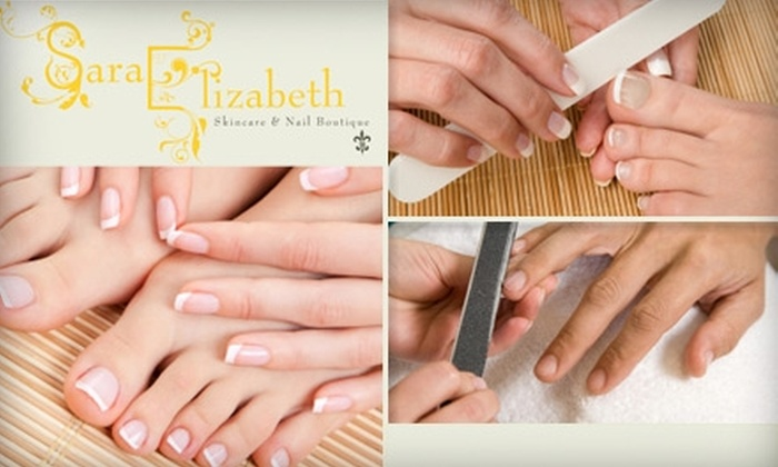 Sara Elizabeth Skincare and Nail Boutique - Mission Hills: $32 for an Eastern-Inspired Mani-Pedi and Elixir Drink at Sara Elizabeth Skincare and Nail Boutique ($68 Value)