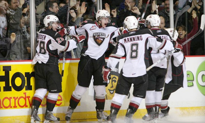 Vancouver Giants - Hastings-Sunrise: $27 for Two Tickets to a Vancouver Giants Hockey Game Plus Merch Gift Card ($54 Value). Six Games Available.