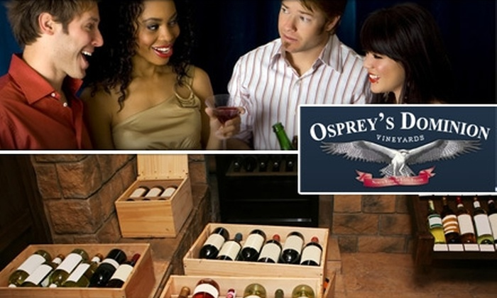 Osprey's Dominion Vineyards - Southold: $12 for a Wine Tasting for Two at Osprey's Dominion Vineyards and a Take-Home Bottle of Reserve Chardonnay ($25 Value)