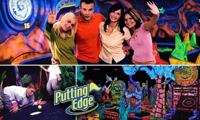 Putting Edge - Industrial Park: $10 for 18 Holes of Glow-in-the-Dark Mini Golf for Two at Putting Edge (Up to $21 Value)