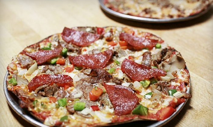 Eddie's Pizza Truck - Multiple Locations: Pizza Packages with Drinks for One or Two at Eddie's Pizza Truck (Up to 69% Off)