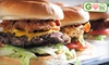 Burger Rush - Oklahoma City: $7 for $14 Worth of Burgers, Sandwiches, and Drinks at Burger Rush