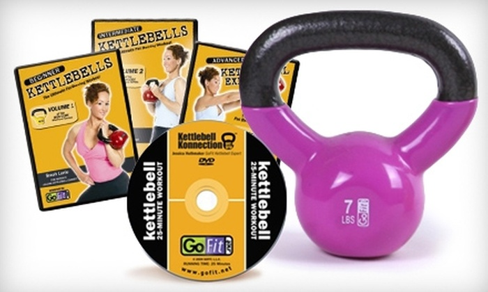 Fitness Experts - Multiple Locations: $39 for 7 or 10 lb. Kettlebell, Three Kettlebell Workout DVDs, and One Training Session at Fitness Experts (Up to $99.98 Value)
