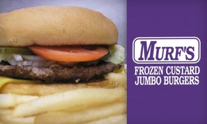 Murf's Frozen Custard & Jumbo Burgers - Lynndale: $7 for $15 Worth of Casual Fare from Murf's Frozen Custard & Jumbo Burgers in Brookfield
